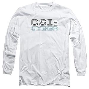 CSI: CYBER Crime Drama Series Logo Adult Long Sleeve T-Shirt Tee