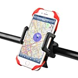 Handyhalterung Fahrrad, Ascher Handyhalterung Fahrrad Smartphone Handyhalter Fahrrad Verstellbar Motorradhalter Halterung für iPhone 7/ 7 Plus/ 6S/ 6S Plus/ 5S Samsung Galaxy S7/ S7 Edge/ S6 Edge / S6 / S5 Smartphones und GPS