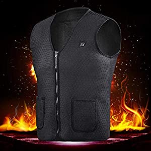 Sunzit Beheizte Weste, USB-Aufladung Heizweste Warme Unterziehweste Verstellbare Temperatur Kleidung Herren und Damen zum für Outdoor-Wanderung und Camp