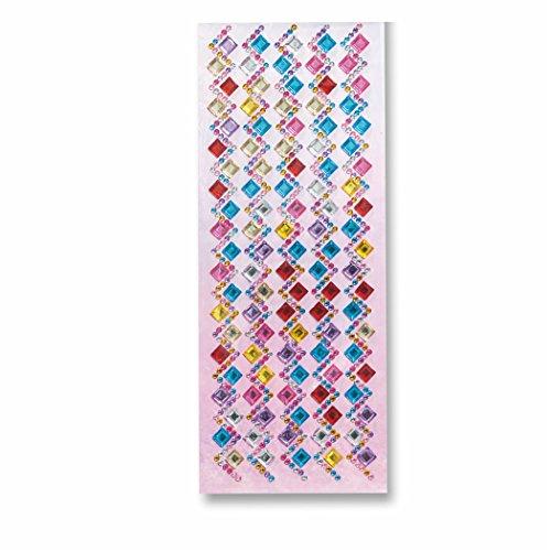 Schmuckstein Strass-Sticker Bordüren selbstklebend CANDY 2, 10,5x26cm, 1 Blatt