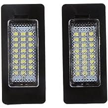 Matrícula LED Luz Día de 24 SMD Blanco Para BMW E90 M3 E92 E70 ...