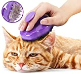 [CAT BRUSH] Extra Soft Silicone Pins – Grooming & Shedding Massage Brush for Short & Long Hair