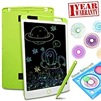 LCD Writing Tablet Drawing Board - 10.5 Inch Colorful Screen Electronic Writing Doodle Pad Children Preschool Learning Educational Handwriting Pad for Note Memo Boy Girl Toy Gift (10.5inch, Pink)