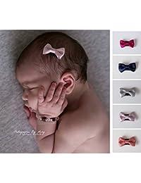 Barrette spécial nouveaux nés et bébés modèle Little bow shining, couleur au choix
