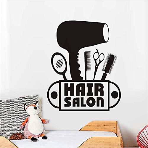 Wandtattoo Kinderzimmer Wandtattoo Schlafzimmer Haartrockner-Schere-Kamm-Spiegel-neue Mode für Friseursalon-Geschäft (Haartrockner Disney)