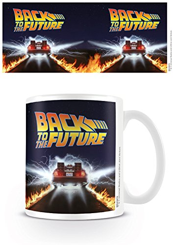 Back To The Future  DeLorean Fire Trails Mug