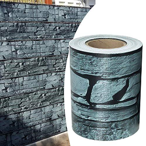 Alaskaprint Schiefer PVC Sichtschutzstreifen Sichtschutz Gartenzaun Sichtschutzfolie Zaunfolie Zaunstreifen für doppelstabmatten Zaun 70 Meter x 19CM