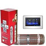 FOXYSHOP24-elektrische Fußbodenheizung PREMIUM MARKE FOXYMAT.SL RAPID (200 Watt pro m²,für die schnelle Erwärmung) mit Thermostat FOXYREG CTFT,Komplett-Set, 3.0 m² (0.5m x 6m)