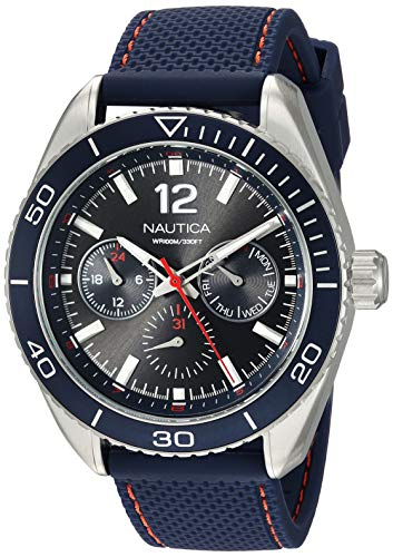 Nautica Reloj Analógico para Hombre de Cuarzo con Correa en Nailon NAPKBN003