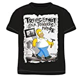 The Simpsons Herren T-Shirt Gr. L, Schwarz