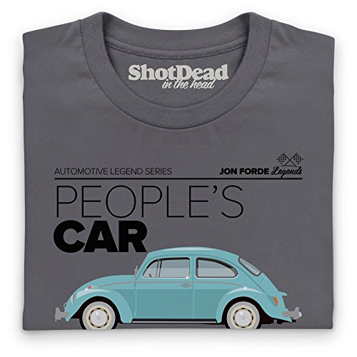 Jon Forde People's Car T-Shirt, Herren Anthrazit