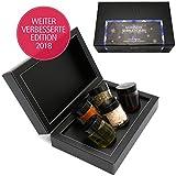 Hallingers Mix Gewürz Essig Öl - Magische Sehnsucht xMas Set, 5 x Miniglas in Mini Deluxe-Box, 1er Pack (1 x 125 g)