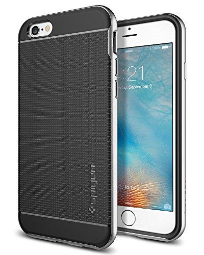 Spigen SGP11620 Neo Hybrid Kompatibel mit iPhone 6S/6 Hülle, Zweiteilige Handyhülle Modische Muster Silikon und PC Rahmen Schutzhülle Case Satin Silver Neo Hybrid