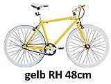 Micargi 71,12 cm fitnessbike single speed Fixed Gear bicicletta bici da corsa con telaio da altezza 48/53 cm