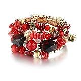Shining Diva Fashion Jewellery Charm Bracelet for Girls & Women Stylish Daily Wear Party Wear Jewelry(Red)(9241b)