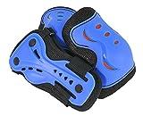 SFR Essentials Triple Pad Set de Muñequera, Codera y Rodillera, Unisex Adulto, Azul / (Blue), 39.5