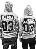 Comedy Shirts - King 03 - NEGATIV - Herren Hoodie - Schwarz/Silber Gr. XXL