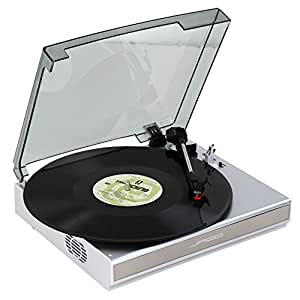 Jago Vinyl Record Player USB Turntable with Built-in ...