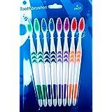 8Brosses à dents 2x vert 2x bleu, 2x Violet 2x orange