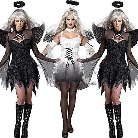 Noir Halloween Costumes Pour Les Couples - SVANCE Fête de l'Halloween pour adultes Costumes