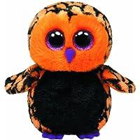 Ty Haunt Búho de juguete Negro, Naranja - Juguetes de peluche (Búho de juguete