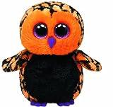 Ty 7136089Beanie Toy Halloween Haunt-Glub Sliding Owl 15cm, Black/Orange, Limited Edition