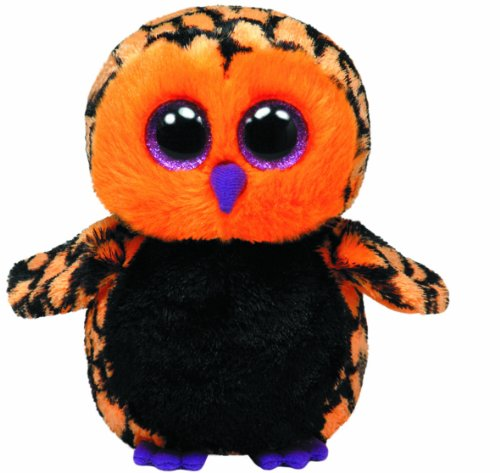 TY 7136089 - Haunt - Eule schwarz/orange, 15 cm, Glubschi, Beanie Boos, Halloween, limitiert