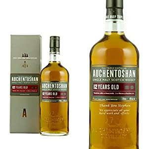 Personalised Auchentoshan 12 Year Old Single Malt Whisky 70cl Engraved Gift Bottle from Auchentoshan