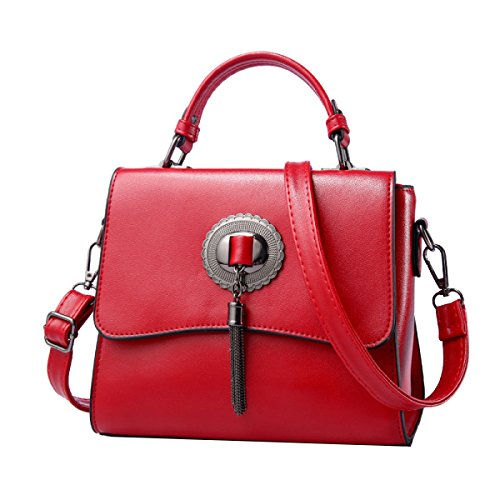Yy.f Nuove Borse Marea Tracolla Messenger Borsa A Mano Signora Di Modo Sacchetto Solido Multicolore Red