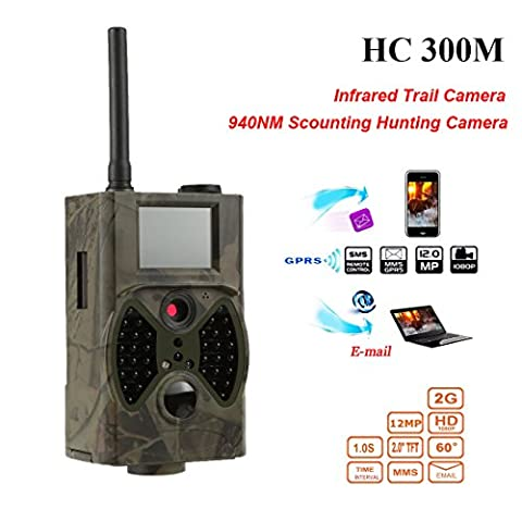 12MP 1080P HD Wildlife Camera Remote Controller Hunting Camera Video GSM/ GPRS/MMS/SMS Digital Infrared Trail Camera Game Night Vision