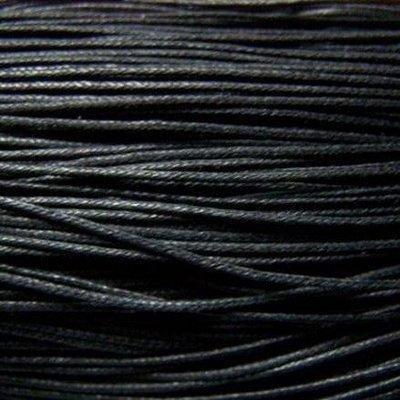 50 m Noir Cordon Coton Cire/filetage 1 mm (5 x 10 m) Vendu par Rouge