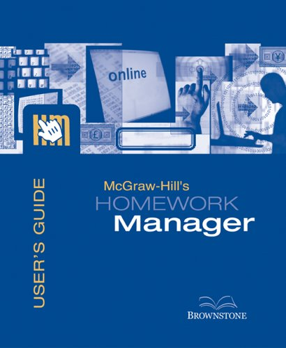 Mcgraw-hill's Homework Manager User's Guide + Access Code to Accompany Financial Accounting