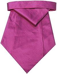 Riyasat - Pink Color Self Design Micro Fiber Cravat with Pocket Square (C_0065)