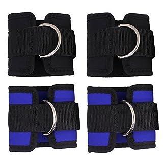 Senhai verstellbare Knöchelriemen fürs Fitnesstraining, D-Ring-Manschetten für Kabelzugmaschine, ideal zum Trainieren der Beine und des Pos, 4Stück
