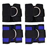 4PCS Verstellbare Ankle Straps, Senhai Fitness Knöchel D-Ring Manschette Riemen für Gym Kabel Maschine Workouts Bein Butt Übungen