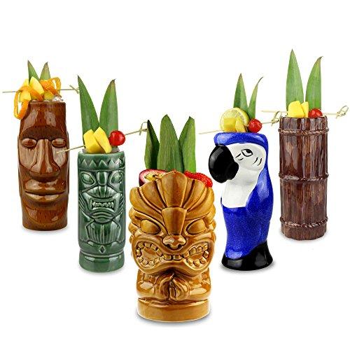 Juego-de-vasos-de-cctel-de-cermica-tropical-para-fiestas-tiki-5-unidades