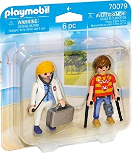Playmobil 70079 Duo Pack Duo Pack ärztin y Paciente, Multicolor