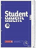 Brunnen–1067907taccuino/College blocco Student per mancini (formato A4, 80fogli a righe, rigatura 27, 70g/m², con spirale destra)