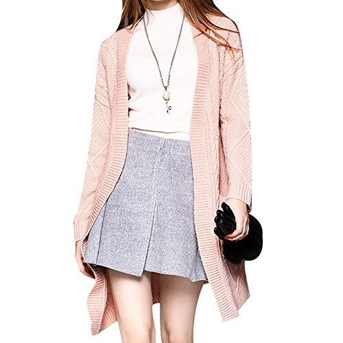 DISSA VD8620902 femme Gilet Manches longues Tricot Rose