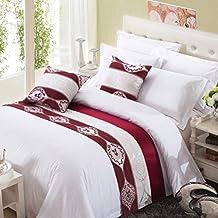 chemin de lit rouge. Black Bedroom Furniture Sets. Home Design Ideas