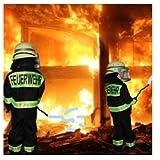 Feuerwehr-Kostüm Kinder Feuerwehr-Mann Fasching Karneval Kinder-Kostüm Gr. 8 116-122 Waschbar Polyester Schadstoff geprüft Test
