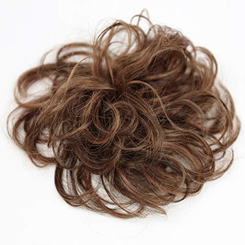 PRETTYSHOP 100% Echthaar Humanhair Haargummi Haarteil hairpiece