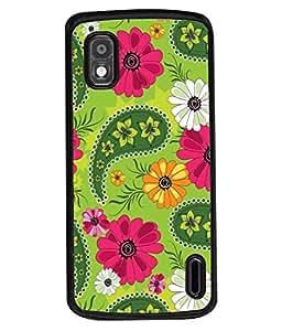 PrintVisa Designer Back Case Cover for LG Google Nexus 4 E960 (Green Grass Love Heart Shaped Grass Love of Nature Designer Case Green Heart Shape Cell Cover Grass Heart Smartphone Cover I love you Unique )
