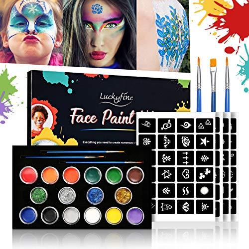 Luckyfine Pinturas Faciales y Glitter Corporales