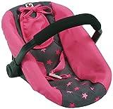 Bayer Chic 2000 708 82 Puppen-Autositz, Puppentrage, Sternchen pink