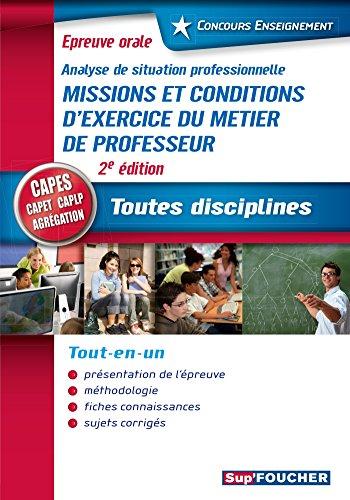 Concours Enseignement - Analyse de situation professionnelle - Oral CAPES, CAPET, CAPLP, Agrgation
