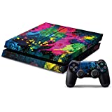 Pandaren® full skin sticker faceplates for PS4 console x 1 and controller x 2 (Graffiti) [Instruction in image lists]