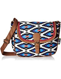 Kanvas Katha Selena Digital Women's Sling Bag (Brown) (KKSELDP002)