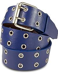 98312375533 SCAMODA ceinture à deux trous avec cuir véritable pour hommes et femmes