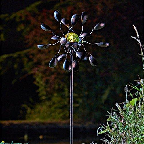 Garden Mile verschiedene dekorativ solar betrieben Aufleuchtend Garten Wind Spinners mit bunter verändern LED Lichter Kupfer Optik Metall Tiere Skulpturen umwerfend Vielseitige Verzierungen decoration